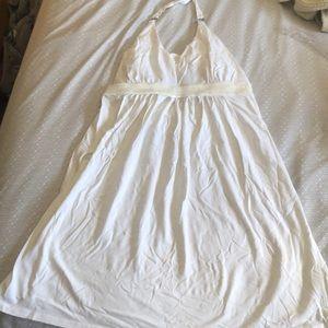 Victoria's secret white halter dress